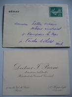 CARTE VISITE Dr BORNE / SENATEUR / ST HIPPOLYTE - DOUBS - Visiting Cards