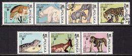 Poland 1978 Mi# 2584-2590 Used - Warsaw Zoological Gardens, 50th Anniv. / Animals - Usados