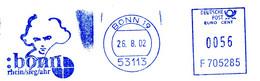 Freistempel Kleiner Ausschnitt 344 Bonn Beethoven Musik - Affrancature Meccaniche Rosse (EMA)