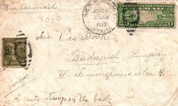 USA 1930, Air Mail Envelope USA To Hungary, Postmarks New York And Budapest - 1c. 1918-1940 Cartas