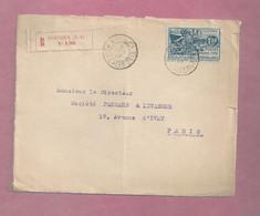 Devant De Lettre Recommandée De 1932 Pour La France. YT N° 146 Et 165 - Exposition Coloniale De Paris - Cartas