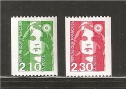 France, 2627a, 2628a, Neuf **, TTB, Roulette Avec Numéro, Marianne De Briat - 1989-96 Marianne Du Bicentenaire