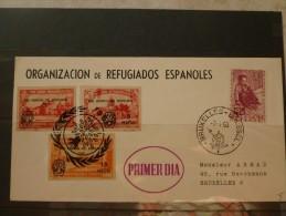 Année Du Refugié Premier Vol Espagne Bruxelles 1960 - Cartas