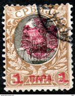 Serbia, 1903 1 Para/5 Din Perf:11 1/2 Used As Scan - Serbia