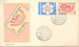 ANDORRA - FDC EUROPA 30.4.73 /1 - Cartas