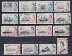 TRISTAN DA CUNHA 1965, SG# 71-84b, CV £48, Part Set, Ships, MH - Tristan Da Cunha