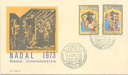 ANDORRA - FDC NADAL 1973 - 14.12.1973 /1 - Cartas