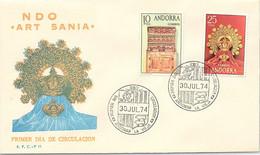 ANDORRA - FDC ARTESANIA - 30.7.1974   /1 - Cartas