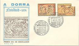 ANDORRA - FDC NAVIDAD 1974 - 4.12.74  /1 - Cartas