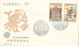 ANDORRA - FDC EUROPA 75 - 28.4.75  /1 - Cartas