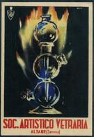 §  SOC. ARTISTICO VETRARIA  Altare (Savona)  § - Werbepostkarten