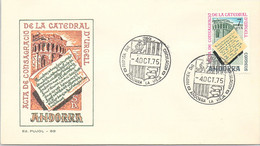 ANDORRA - FDC CONSAGRACIO CATEDRAL D'URCELL - 4.10.75   /1 - Cartas