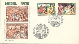 ANDORRA - FDC NADAL 1975 - 2.12.75  /1 - Cartas