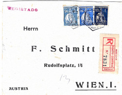 Portugal Cover Porto To Austria Wien - Covers & Documents