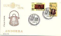 ANDORRA - FDC EUROPA 1976 - 3.5.76   /1 - Cartas