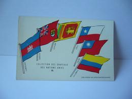 COLLECTION DES DRAPEAUX DES NATIONS UNIES III CAMBODGE CANADA CETLAN CHILI CHINE COLOMBIE   CPA L'UNION DE PARMACOLOGIE - Werbepostkarten