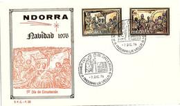 ANDORRA - FDC NAVIDAD  1976 - 7.12.76    /1 - Cartas