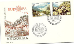 ANDORRA - FDC EUROPA 1977 - 2.5.77  /1 - Cartas