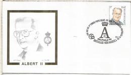 BELGICA BRUXELLES 1999 BRUPHILA 99 REY ALBERTO II - Lettres & Documents