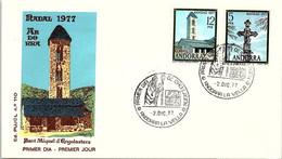 ANDORRA - FDC NADAL 1977 - SAINT MIGUEL D'ANGOLASTERS - 2.12.77  /1 - Cartas