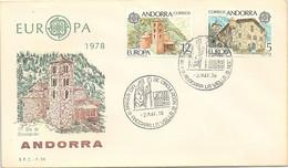 ANDORRA - FDC EUROPA 1978 - 2.5.78   /1 - Cartas