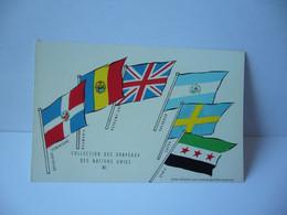 COLLECTION DES DRAPEAUX DES NATIONS UNIES XI REPUBLIQUE DOMINICAINE ROUMANIE ROYAUME UNI  CPA L'UNION DE PARMACOLOGIE - Werbepostkarten