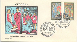ANDORRA - FDC NADAL DEL 1978  - 5.12.78   /1 - Cartas