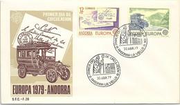 ANDORRA - FDC EUROPA 1979   - 30.4.79  /1 - Cartas