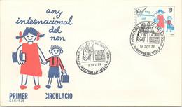 ANDORRA - FDC ANY INTERNACIONAL DEL NEN  - 18.10.79  /1 - Cartas