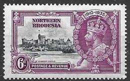 Northern Rhodesia Mh * 6 Euros 1935 - Nordrhodesien (...-1963)