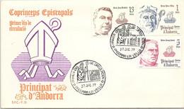 ANDORRA - FDC COPRINCEPS EPISCOPALS - 27.12.79  /1 - Cartas