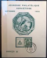 België 1938, Herdenkingskaart Verviers - Zeldzaam! - Cartas Commemorativas