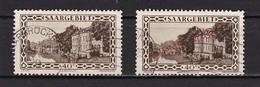 2  Timbres  Oblitérés  Saargebiet 40 C  Paysage Sarrois Un Timbre Dienstmarke - Used Stamps