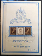 België 1938, Herdenkingskaart Visé - Zeldzaam! - Cartas Commemorativas