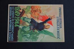 CARTOLINA1849-1944 SPIRITO MAMELI DIFESA REPUBBLICA SOCIALE TIMBRO - Patriotic