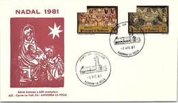 ANDORRA - FDC NADAL 1981  - 3.12.81 /1 - Cartas