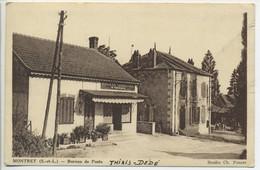 CPA 71 MONTRET Bureau De Poste Boucherie Charcuterie Moureau - Altri Comuni