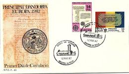 ANDORRA - FDC EUROPA 1982 - 12.5.1982  /1 - Cartas