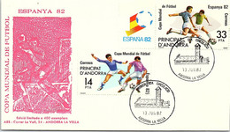 ANDORRA - FDC COPA FUTBOL ESPANA 82  - 13.6.1982  /1 - Cartas