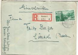 ALEMANIA OCUPACION FRANCESA BADEN CERTIFICADA RASTATT 1947 - Zona Francesa