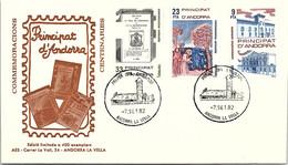 ANDORRA - FDC COMMEMORACIONS CENTENARIES   - 7.9.1982  /1 - Cartas