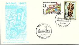 ANDORRA - FDC NADAL 1982 - 9.12.1982  /1 - Cartas