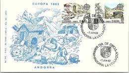 ANDORRA - FDC EUROPA 1983 - 7.6.83 /1 - Cartas