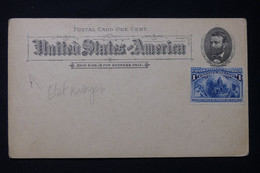 ETATS UNIS - Entier Postal  De L 'Exposition Christophe Colomb De 1893 + Complément, Non Circulé - L 89954 - ...-1900