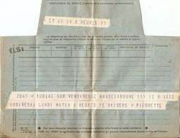 France 1954 - Télégramme D' Auriac-sur-Vendinelle à Paris - Pierrette Arrive! - Télégraphes Et Téléphones