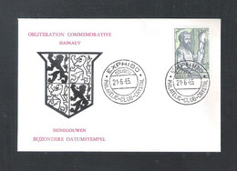 BOUSSU - EXPHIBO - PHILATELIC - CLUB CRYSTAL  21 - 6 - 65 - OMSLAG (D 019) - Cartas Commemorativas