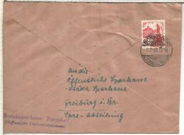 ALEMANIA OCUPACION FRANCESA BOONDORF 1948 + AL OTRO LADO KARLSRUHE METER SAME COVER - Zona Francesa