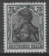 Germania Deutsches Reich 1918 75pf Mi N.104 MH * - Unused Stamps