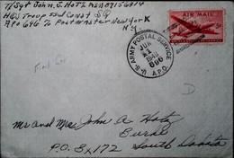 F 19 1946 Lettre US - Briefe U. Dokumente