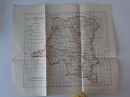 1915 Congo Belge Zaïre Sankuru Stanleyville Elisabethville Bangala Kwango Kongolo Carte Géographique Echelle Kilomètres - Belgisch-Congo - Varia